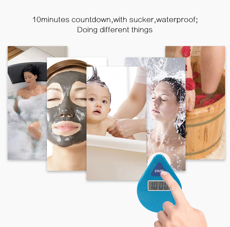 Waterproof countdown shower timer