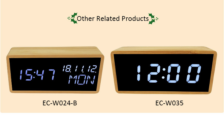 related digital LED alarm clocks