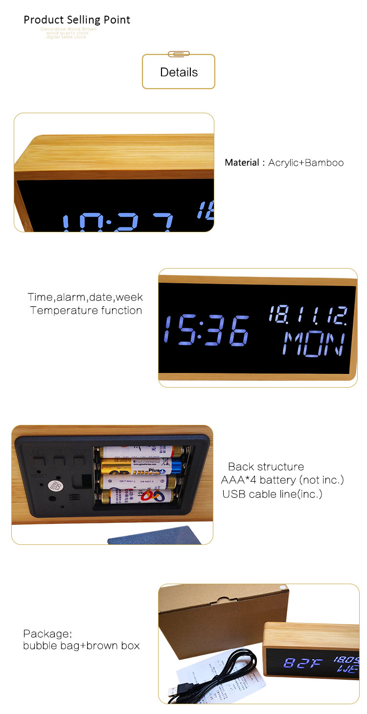 calendar luminous eco-friendly clock