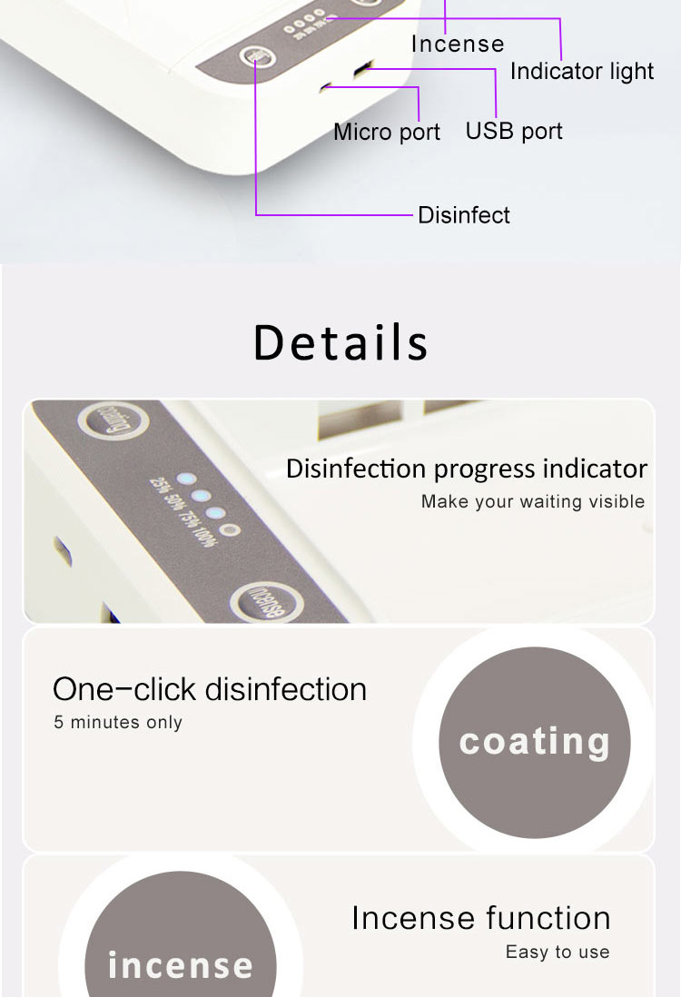 Rapid disinfection box