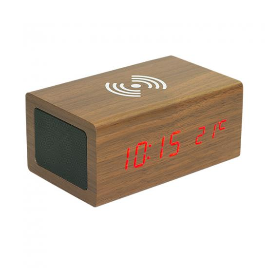 bluetooth speaker with wireless charger and alarm clock