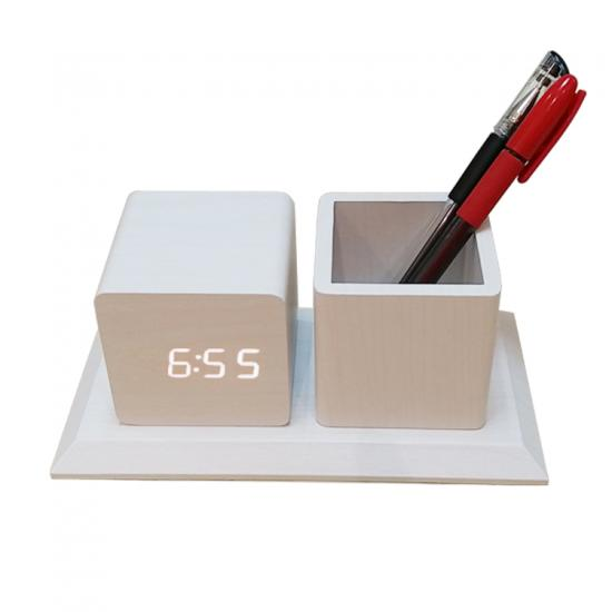 Creative Pen Holder Vase backlight LED digital alarm Clock