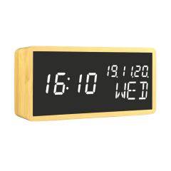 voice controlled wood alarm clock