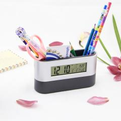 pen holder digital LCD alarm clock