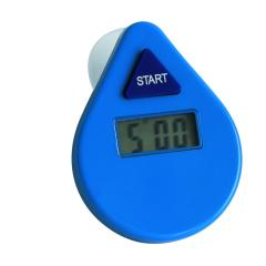 Waterproof countdown shower timer with suction cup