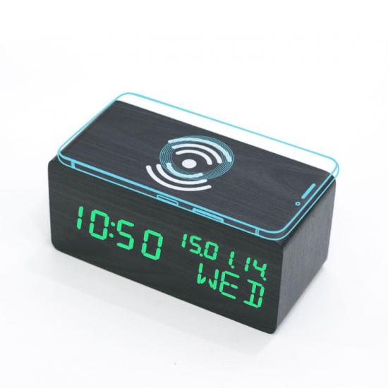 phone wireless charger digital table clock with calender and week