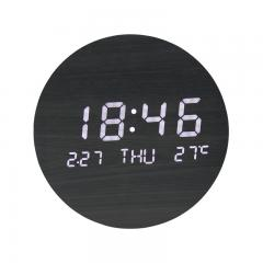LED log wall clock